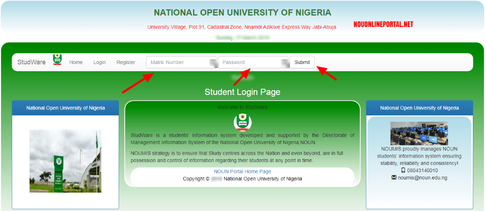 Www Nouonline Net Result Check Portal For 2019 First And Second