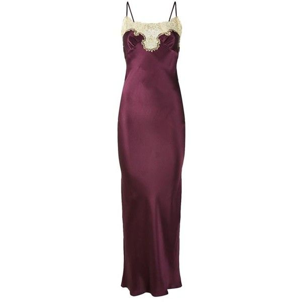 Gilda & Pearl Gina Long Satin Slip (2.090 BRL) ❤ liked on Polyvore featuring intimates and shapewear
