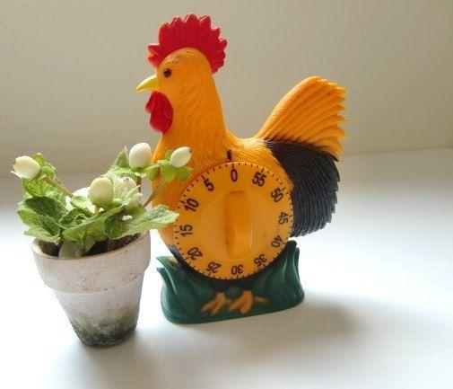 French Vintage Kitchen Timer Cook Timer Egg Timer 60 Mn