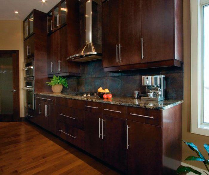 Modern Kitchen Cabinets In Espresso Finishkitchen Craft Enchanting Kitchen Cabinets Modern Design Ideas