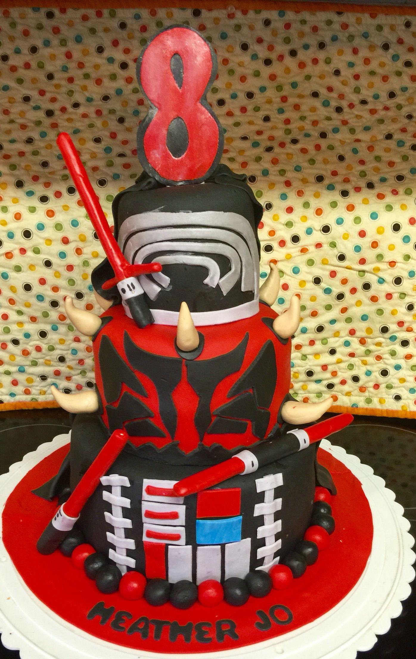 Star Wars Cake Dark Side Darth Vader Darth Maul And Kylo Ren