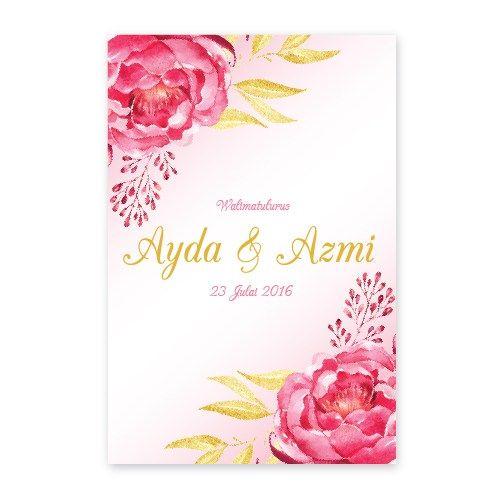 Kad Kahwin Floral 43 Chantiqs Kad Kahwin Kad Kahwin Floral Invitation Cards
