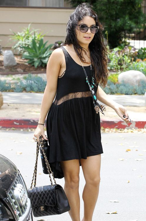 f628488d6d9d Vanessa Hudgens Chanel Classic Flap Bag | Chanel bags and boots ...
