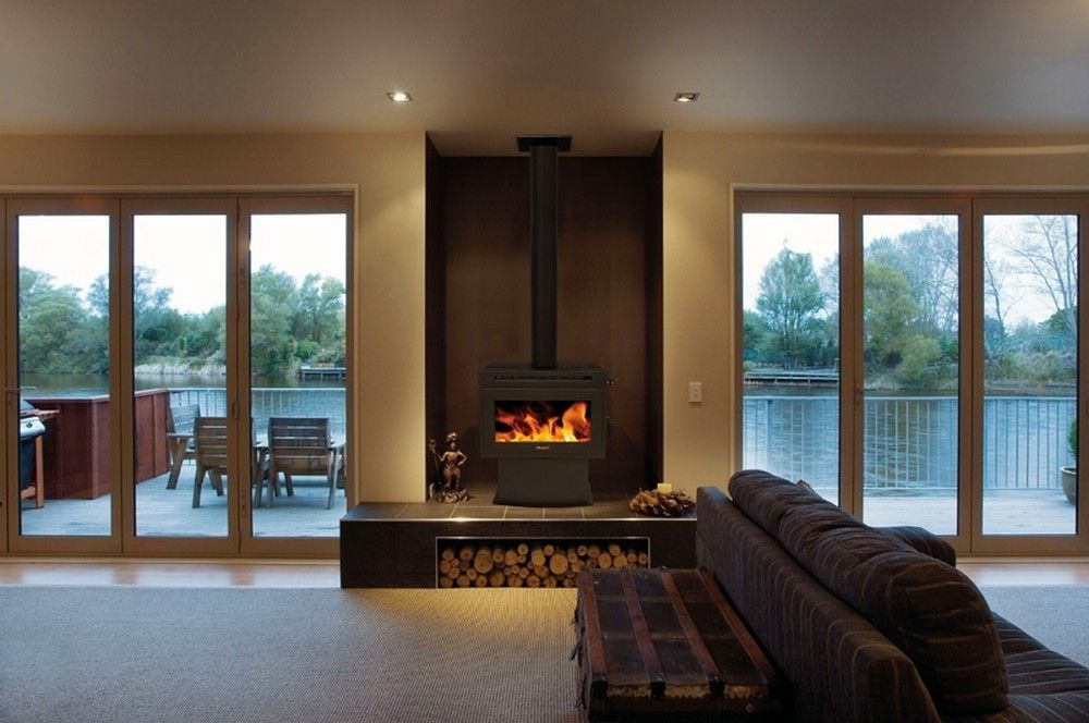 25 Freestanding Fireplace for Living Room Designs Ideas