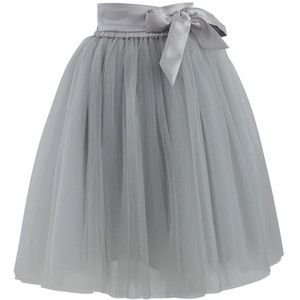 huge discount f8be4 9e470 Chicwish Amore Tulle Skirt in Grey | upcycle skirts ...