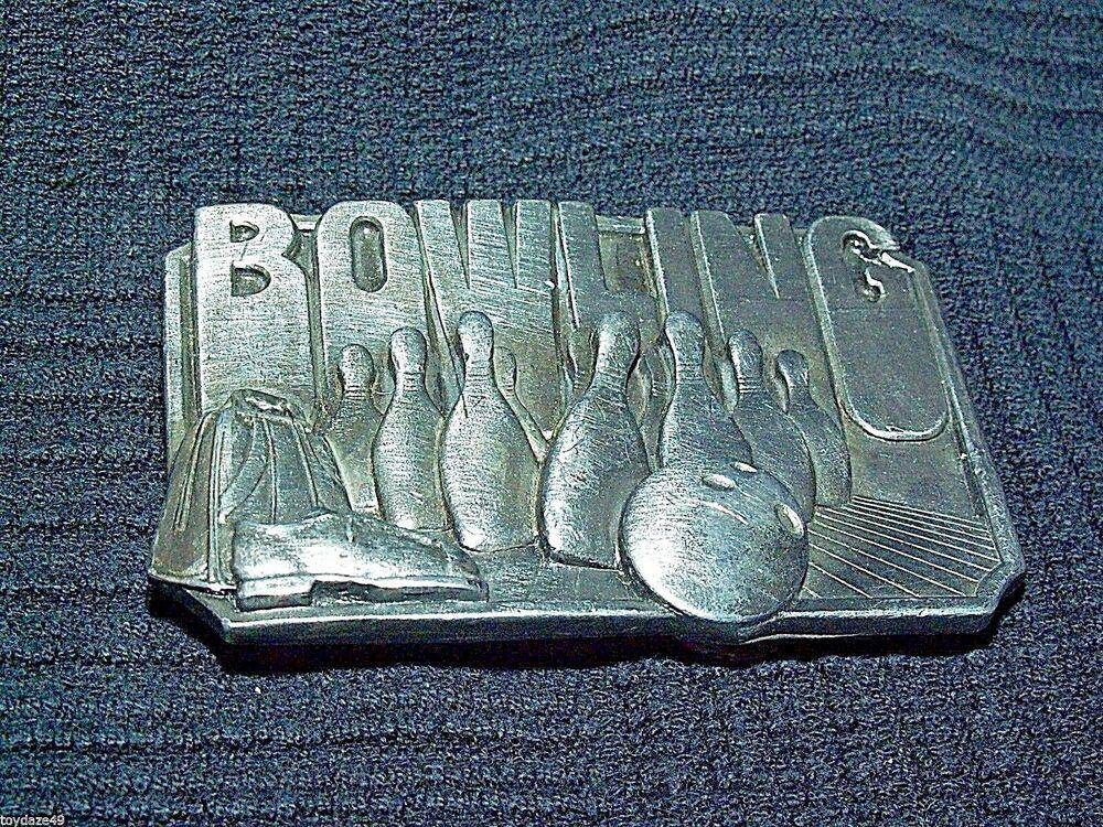 BOWLING BELT BUCKLE SISKIYOU CO WILLIAMS OREGON 1985 PINS
