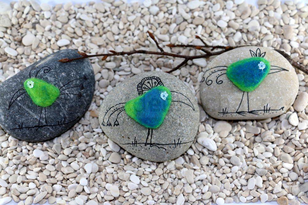 Zaubervogel auf Stein – Lallas Ideenschatz.ch #steinebemalenvorlagen