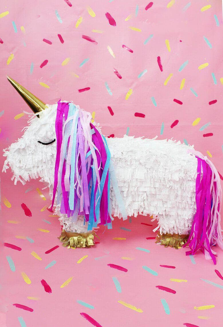 diy einhorn pi ata selber machen diy idee f r deine n chste party unicornios y pi atas. Black Bedroom Furniture Sets. Home Design Ideas