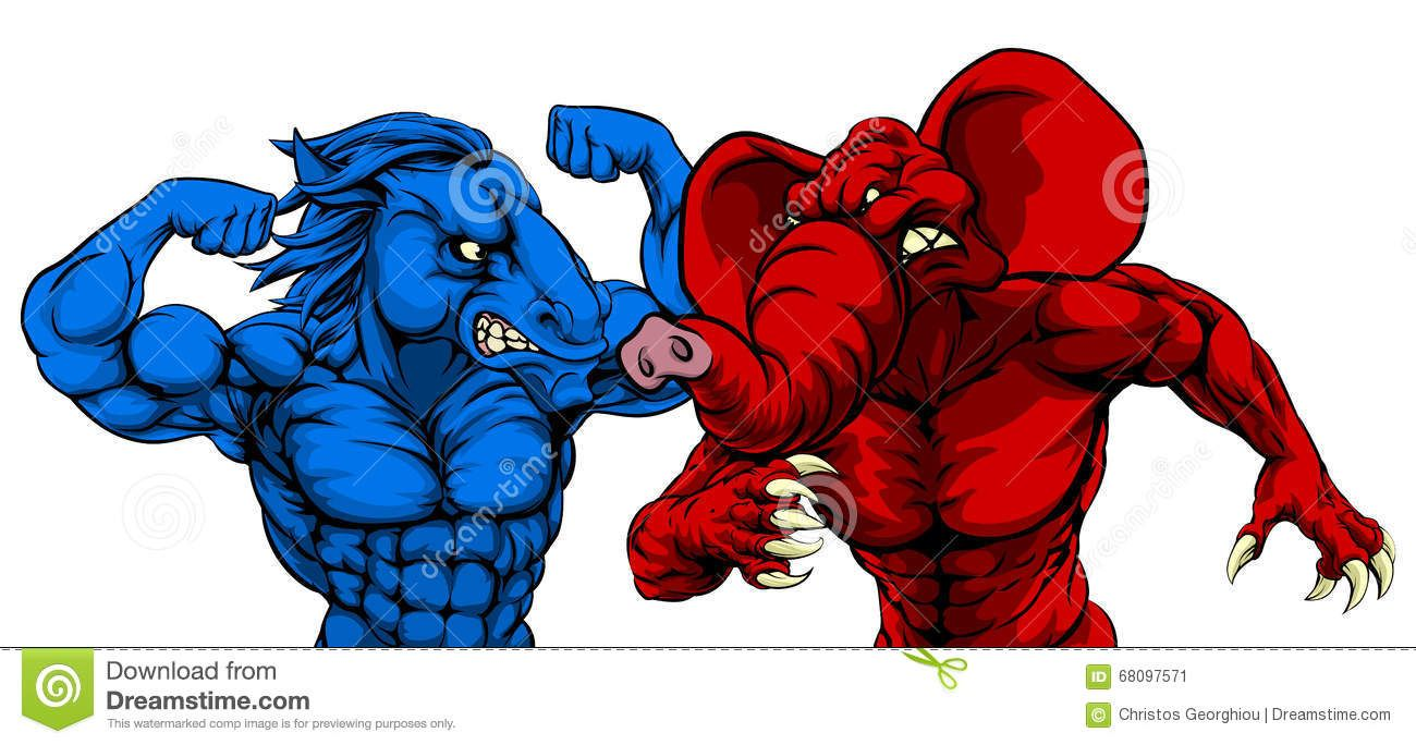 Democratic symbol and color image collections symbol and sign ideas image result for democrat west coast liberal pinterest a blue donkey and red elephant fighting american buycottarizona