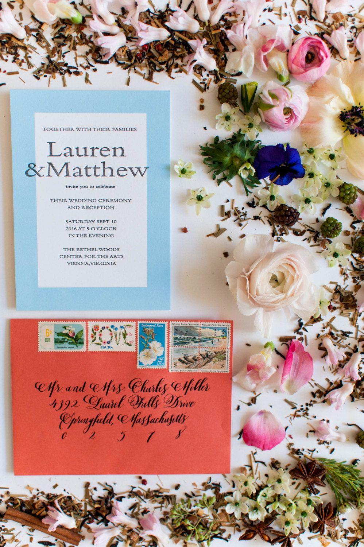 Letterpress Wedding Invitation - Lauren Collection - SAMPLE of ...