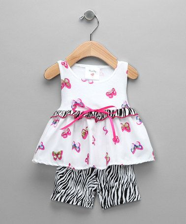 Take a look at this Farfallas Swing Top & Capri Pants - Infant by Mad Sky on #zulily today!