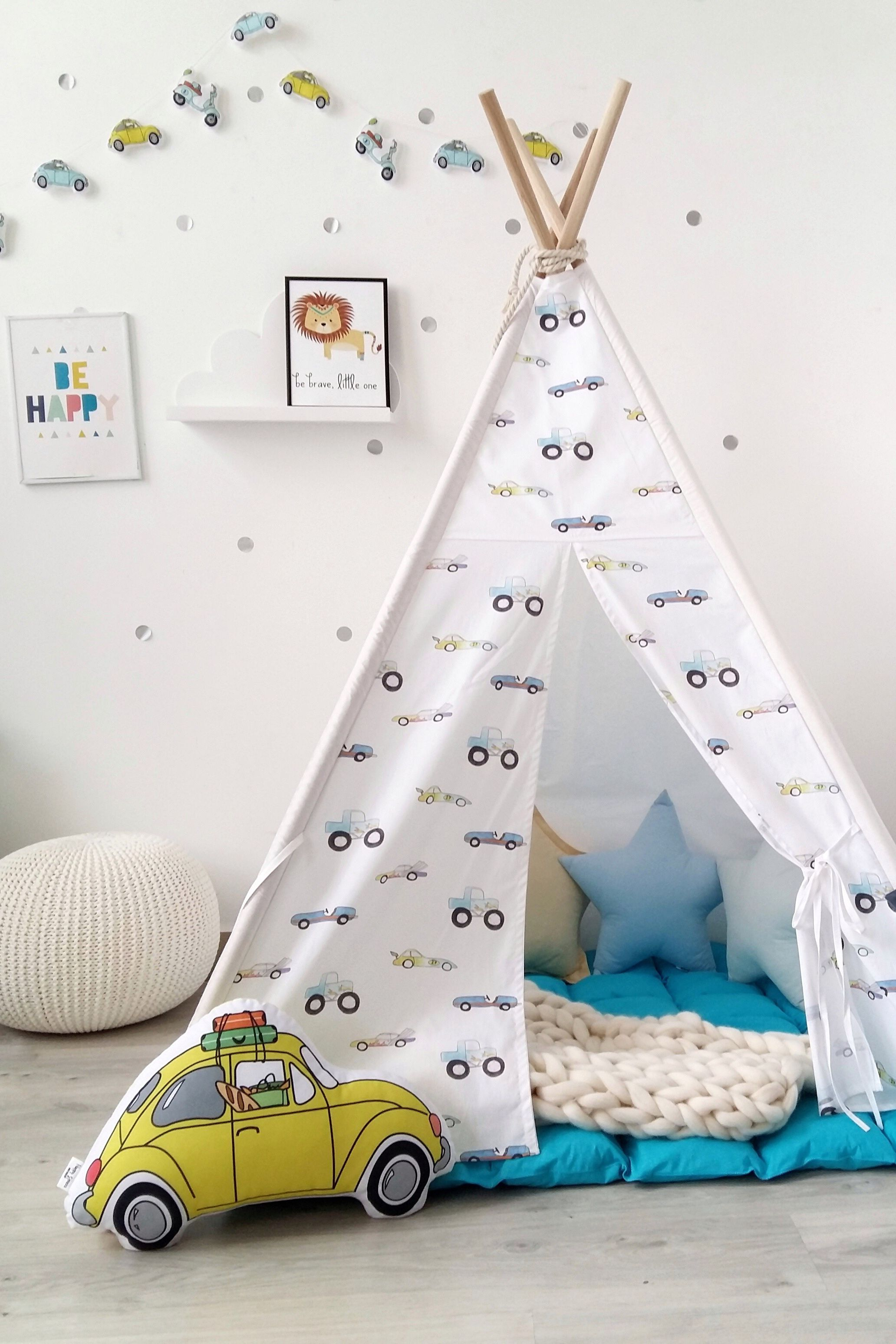 Boys Tepee Wigwam With Cars To Buy On Etsy Happy Spaces Workshop Kids Teepee Indoor Outdoor Play Tent Bo Baby Boy Room Decor Baby Boy Rooms Teepee Kids