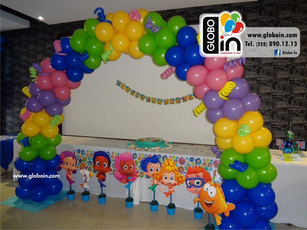 arco de globos bubble guppies