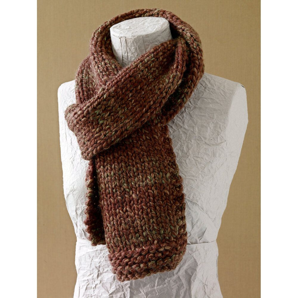 Photo of Basic Scarf in Lion Brand Wool-Ease Thick & Quick – L0411B | Knitting Patterns | LoveKnitting