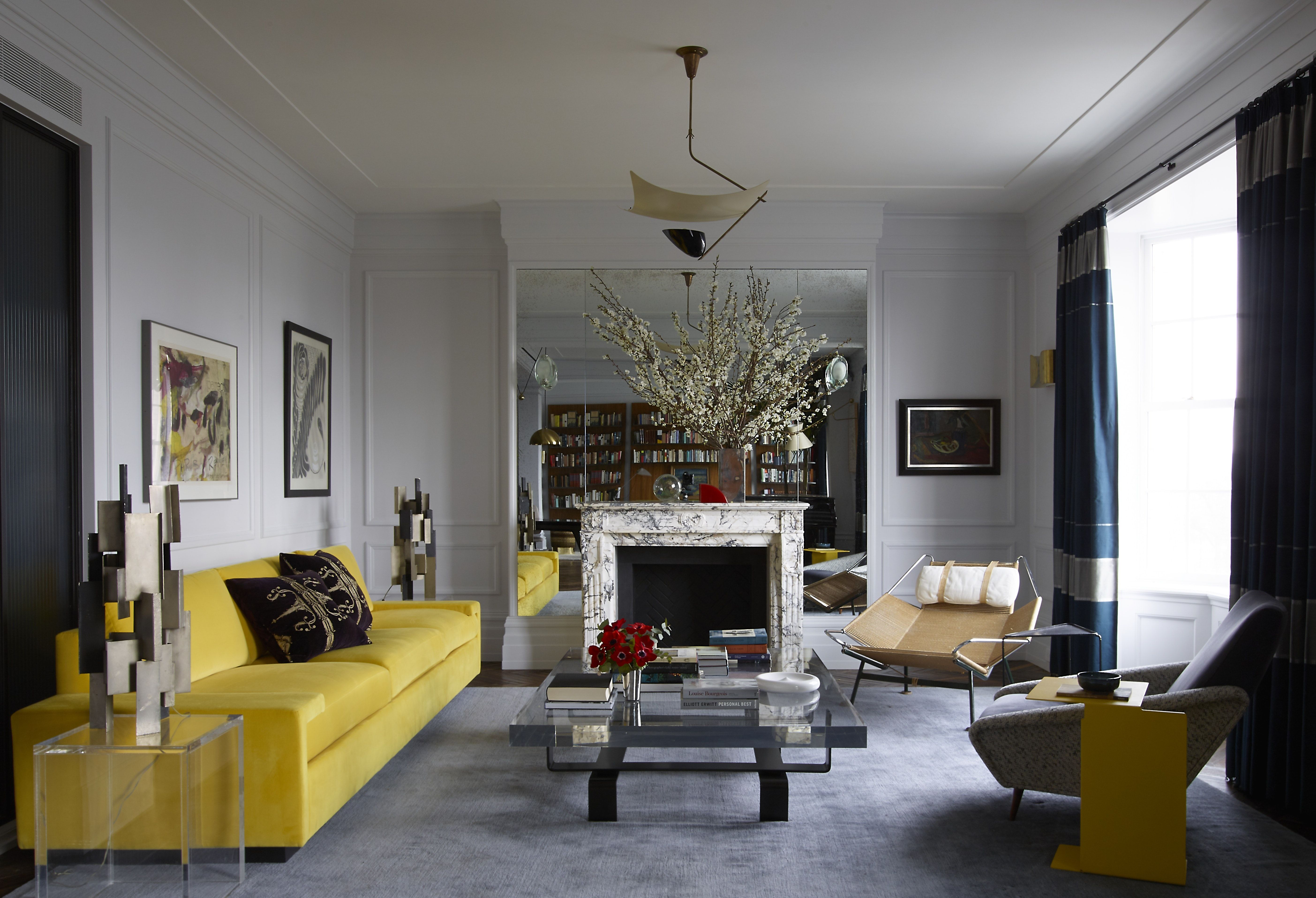 Central Park Apartment Transitional Modern Living Room Ma