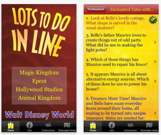 Lots to do in line Disney edition App