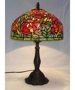 Smuk Tiffany Lampe til bord med flot farvespil og i ægte glasmosaik.