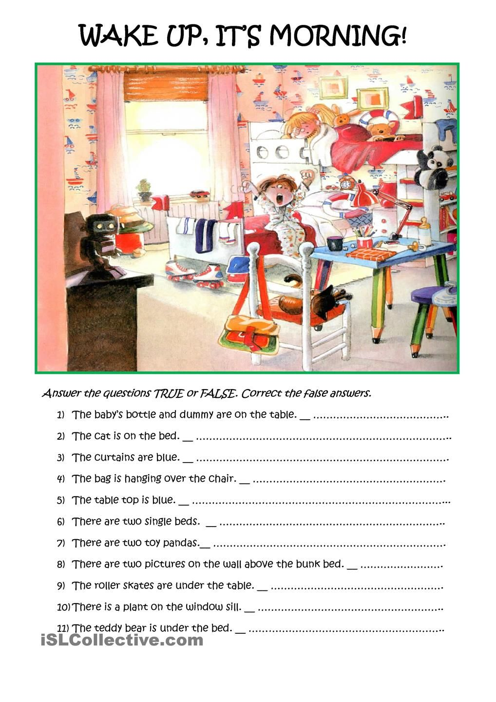 Simple Reading Comprehension With A Picture Esl