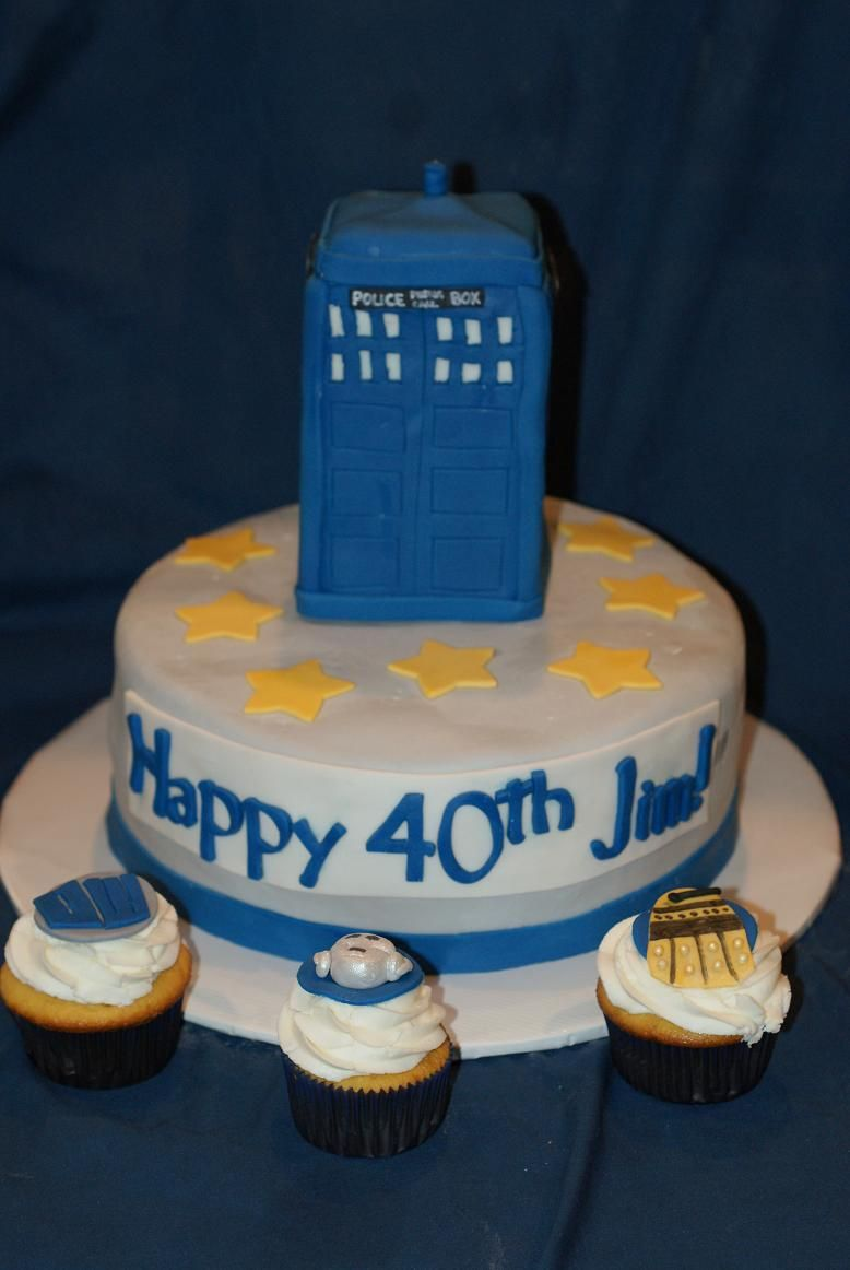 Dr who themed birthday cake cup cakes pinterest birthday