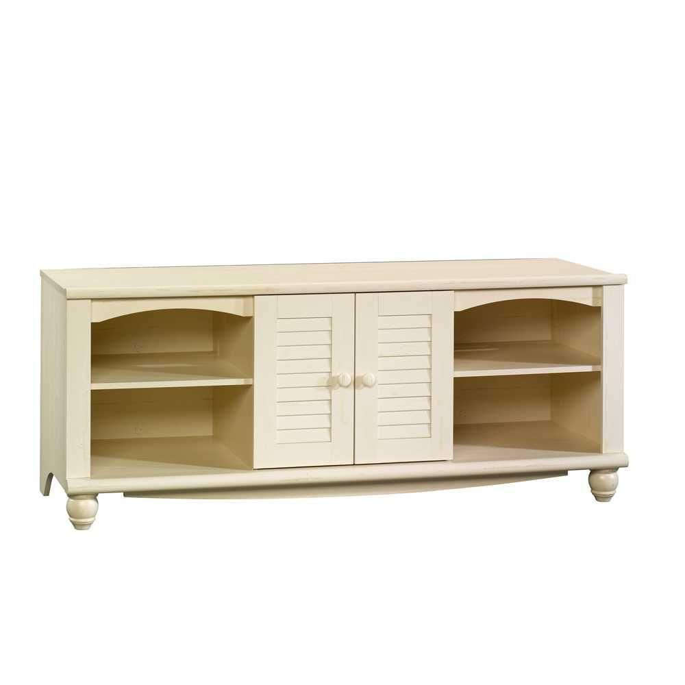 Sauder Harbor View Antiqued White Entertainment Center 403679 Tv