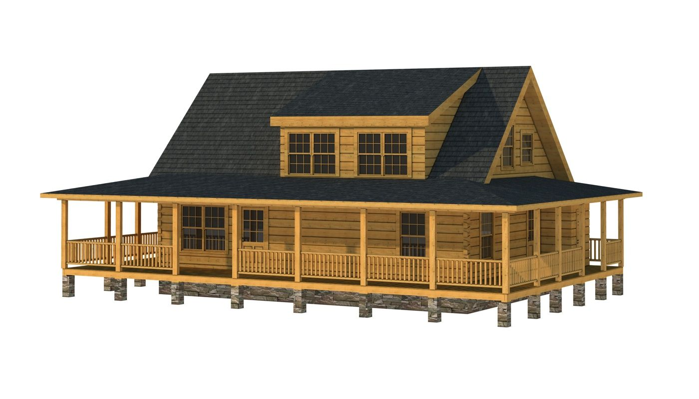 """The Robeson"" is one of the many log cabin home plans from Southland Log Homes. You can customize the Robeson to meet your exact needs with our free design tools."