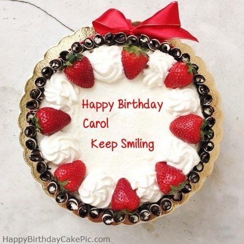Happy Birthday Cake For Girlfriend Or Boyfriend For Carol 500500