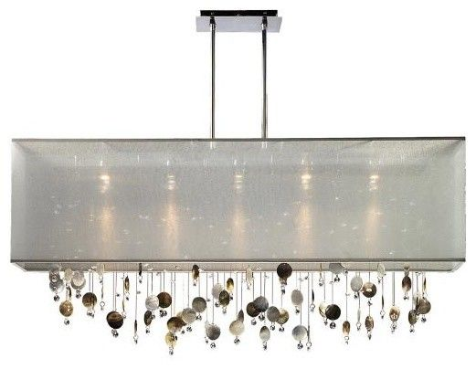 Glow lighting finishing touches crystal midnight shell duomount chandelier silver pearl this product from glow lighting is offered with
