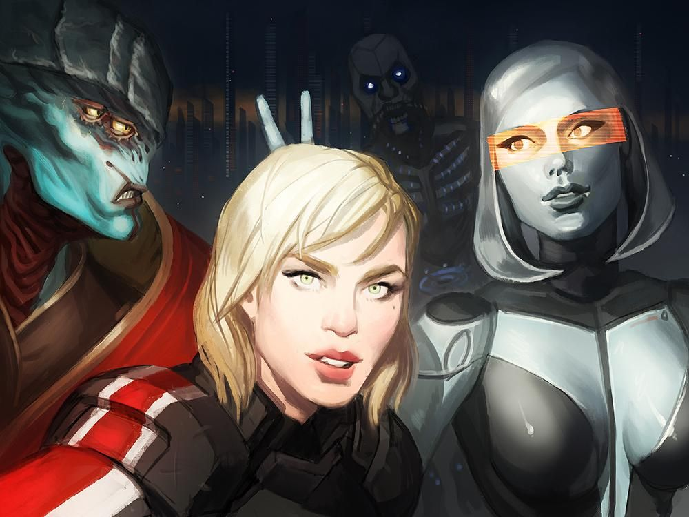 Mass Effect selfie by @itsprecioustime Javik's expression makes this whole picture!