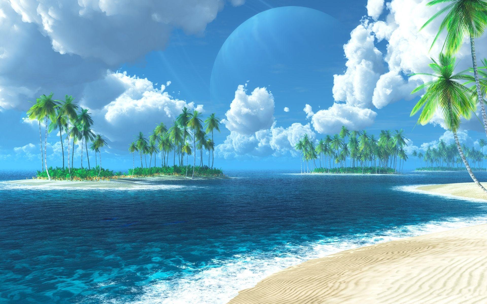 Serene Beach Wallpaper