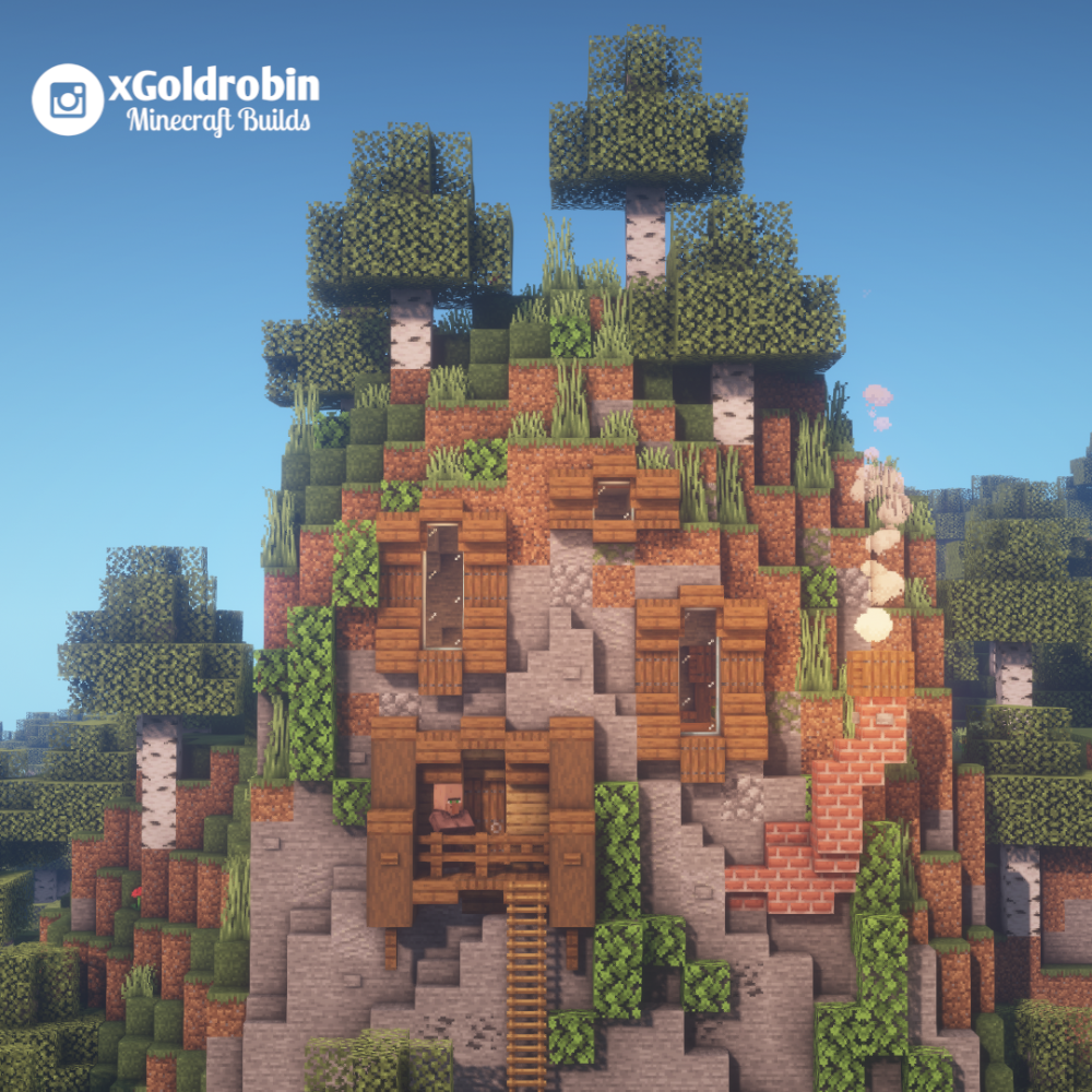 A little house in the mountain! : Minecraft - #House #Minecraft
