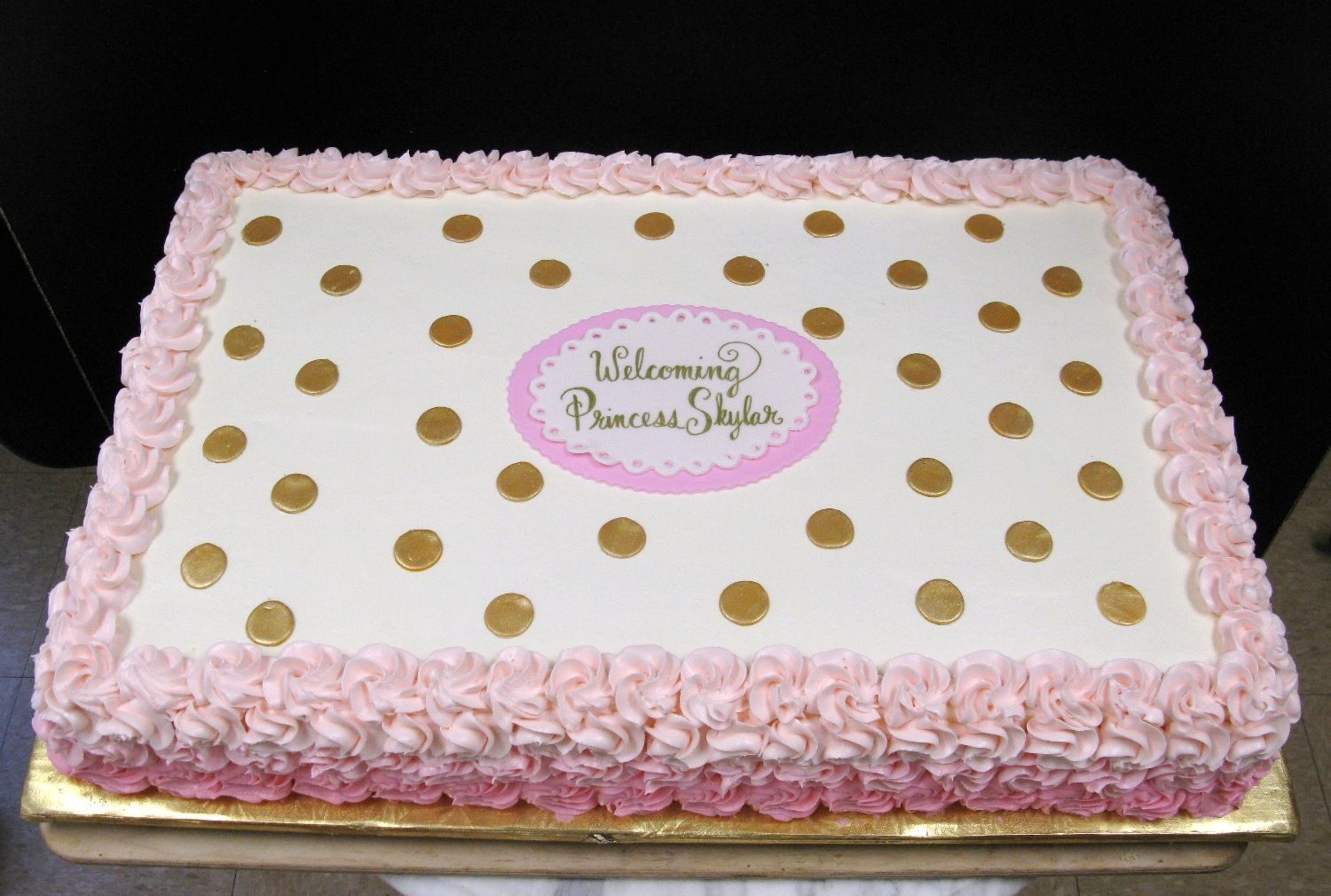 Image Result For Pink And Gold Birthday Sheet Cake Girl Parties