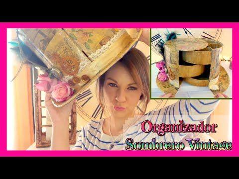 organizador de cartn en forma de sombrero de copa vintage fciles isa