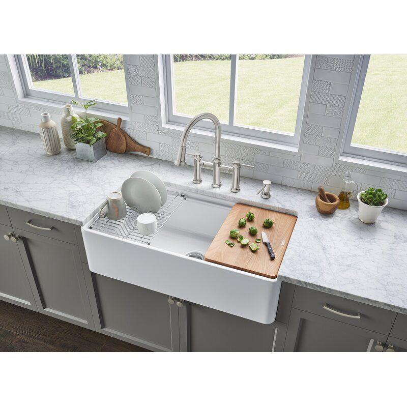 Profina 36 L X 19 W Farmhouse Apron Kitchen Sink In 2020 Farmhouse Sink Kitchen Kitchen Remodel Apron Sink Kitchen