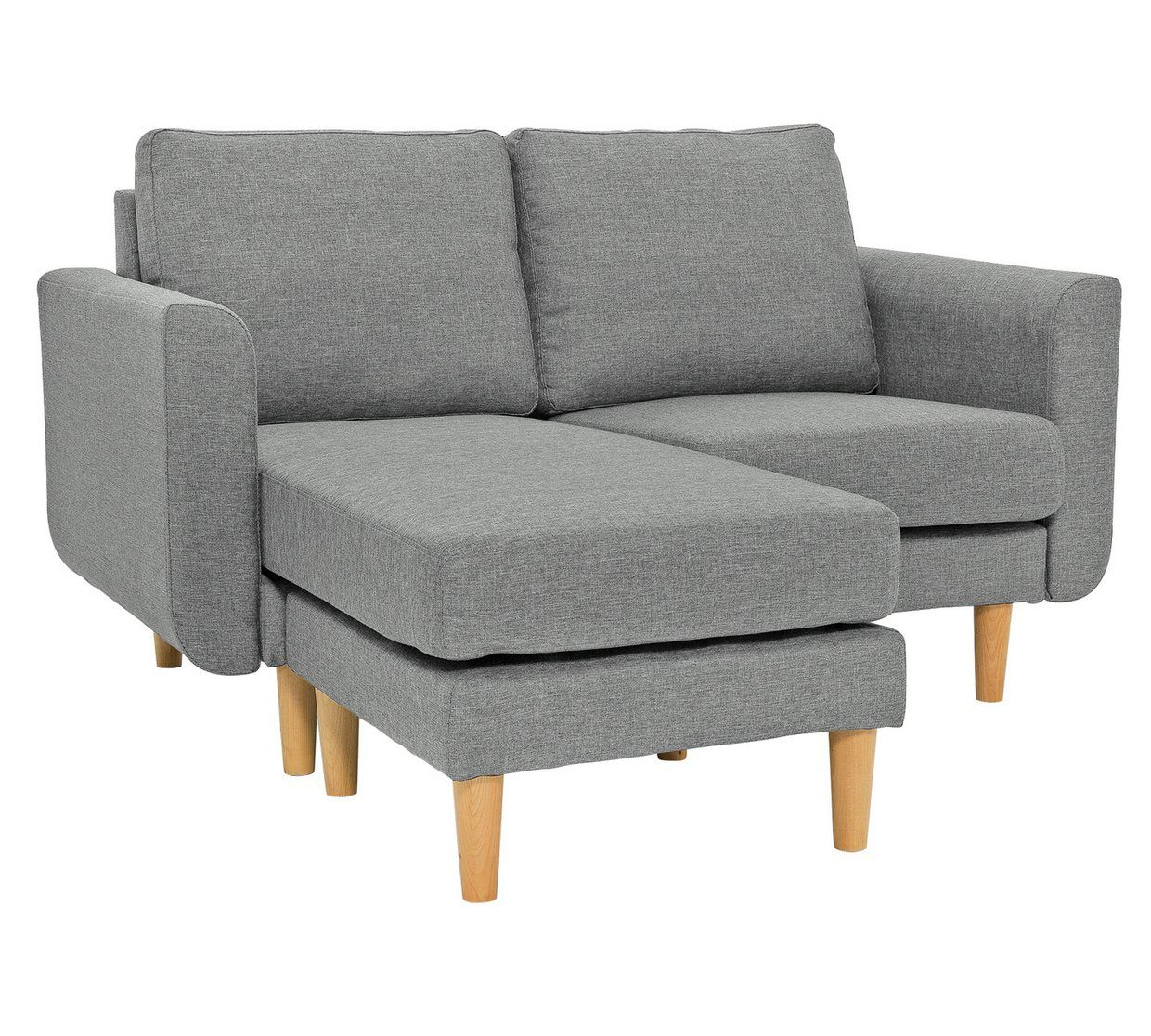 Buy Argos Home Remi 2 Seater Fabric Chaise In A Box Light Grey Sofas Argos Light Gray Sofas Argos Home Chaise