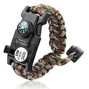 Survival Bracelet Ez Turbo 20 In 1 Survival Paracord Bracelet