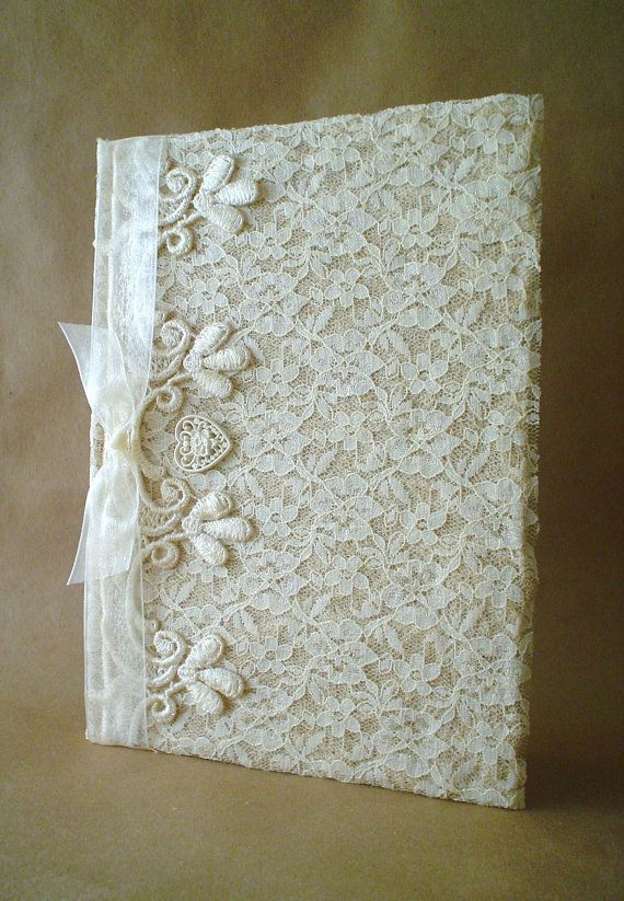 Shabby Chic Lace Journal Diary Notebook Guestbook | lace ...