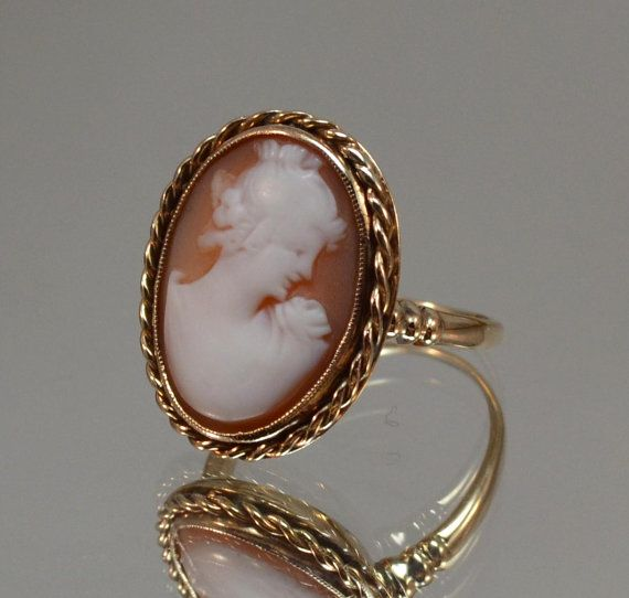 Adjustable Ring Vintage Style Ring Antique Style Ring Victorian Ring Rose Cameo Ring