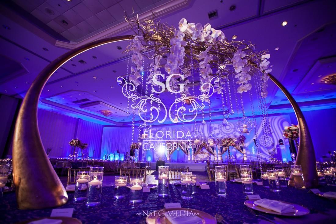 Wedding reception decoration ideas with lights  The Boardwalk Beach Resort Suhaag Garden Florida destination