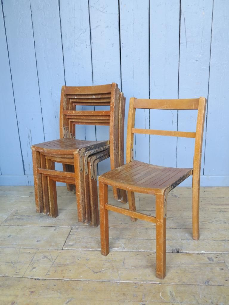 Marvelous Reclaimed Old Vintage Wooden Stacking Chairs Chairs And Camellatalisay Diy Chair Ideas Camellatalisaycom