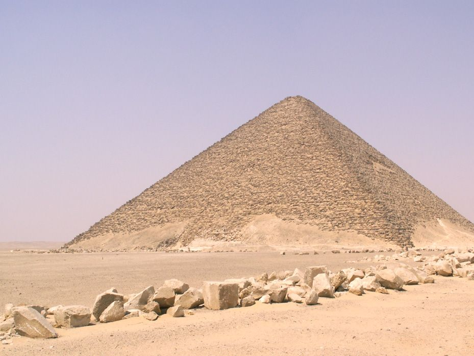 Red Pyramid, third attempt by Snefru, 341'
