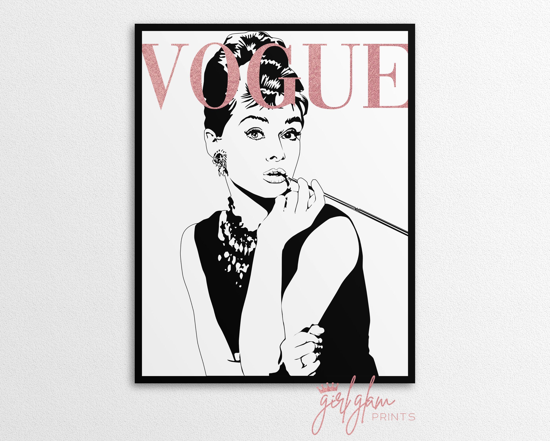 Audrey Hepburn Print Audrey Hepburn Poster Audrey Hepburn Wall Art Fashion Wall Art Fashion Poster In 2020 Fashion Wall Art Chanel Wall Art Audrey Hepburn Poster