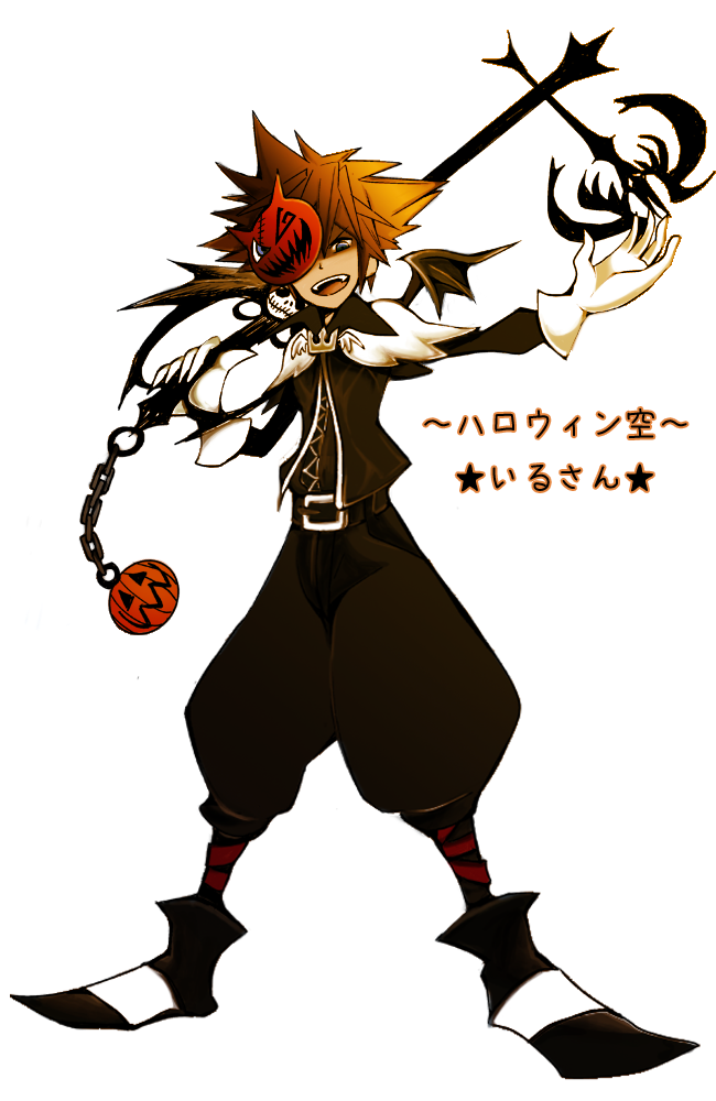 Nightmare Before Christmas Sora.Kingdom Hearts Sora Halloween Town Anime Kingdom