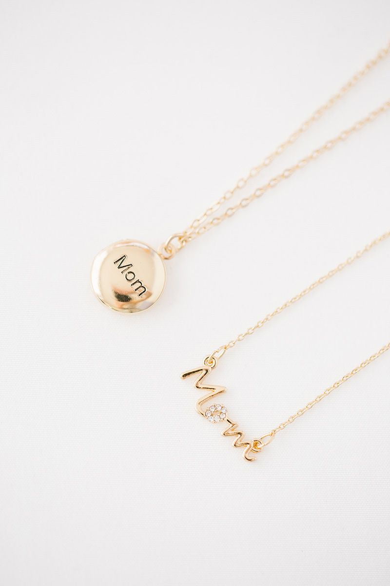 Jewels Obsession Love Mom Necklace Rhodium-plated 925 Silver Love Mom Pendant with 24 Necklace