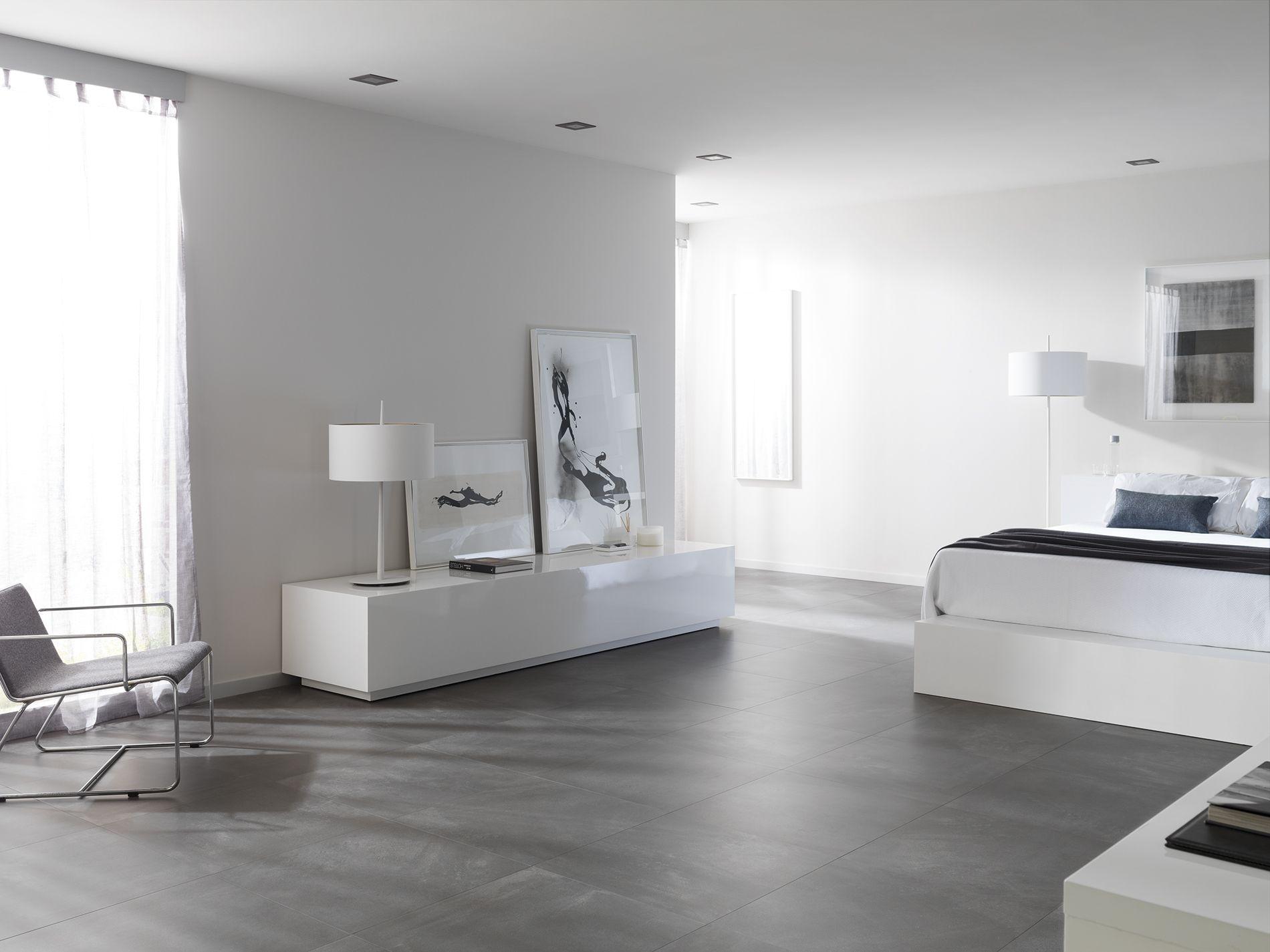 El Estilo Industrial Del Cemento En El Gres Porcelanico Core De Urbatek Porcelanosa Grupo Industrial Arquitectura Interiorism Floor Grey Contrac Boden