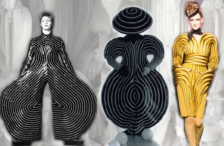 "769a6c0ccdf3 ""Ziggy Stardust"" Costumes - Bauhaus ballet costume from the Triadisches. """