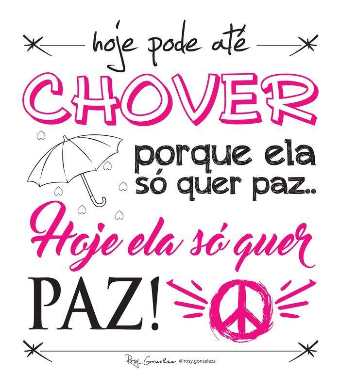 Poster Lettering Ela Só Quer Paz Projota De Rosy Gonzalez Frases
