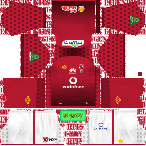 592556924 Dream League Soccer Kits Al Ahly 2018-19 Kit   Logo
