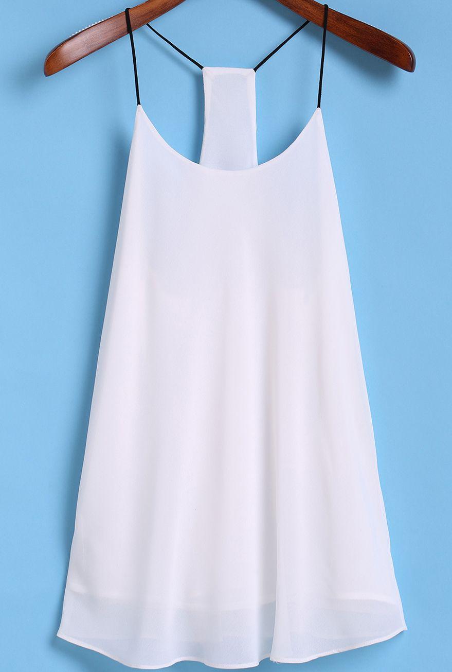 Spaghetti Strap White Cami Top | Closet goals | Pinterest | Outfit ...