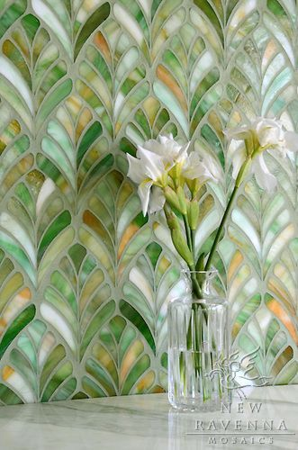 Just gorgeous! Wouldn't this be beautiful as a backsplash or side wall on a vanity?