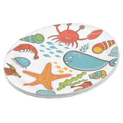 Under The Sea Paper Plates - diy cyo customize create your own personalize  sc 1 st  Pinterest & Under The Sea Paper Plates - diy cyo customize create your own ...
